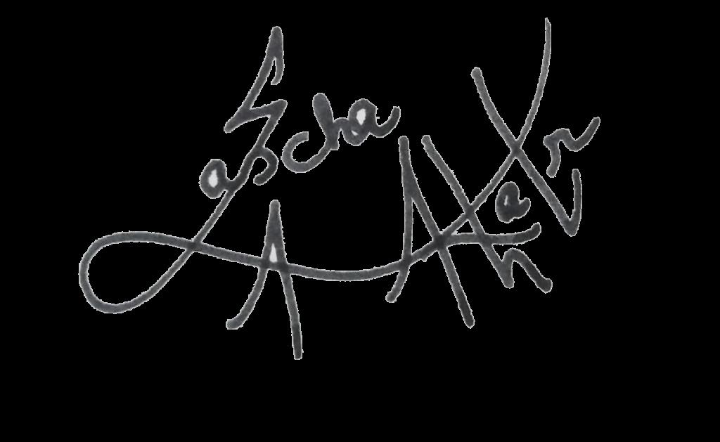 Sascha Aurora Akhtar's signature