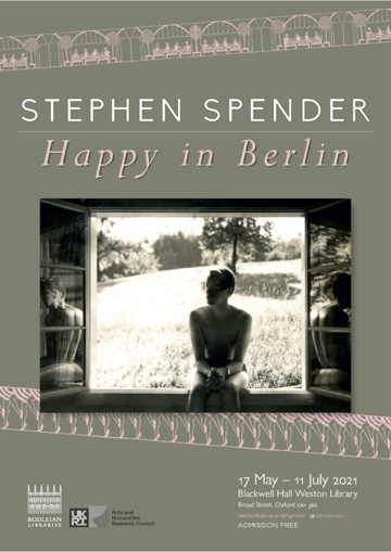 Poster for Stephen Spender exhibition